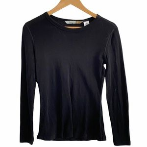 Extra fine Merino wool black sweater MAYA small